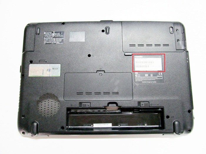 How to find a Toshiba model number