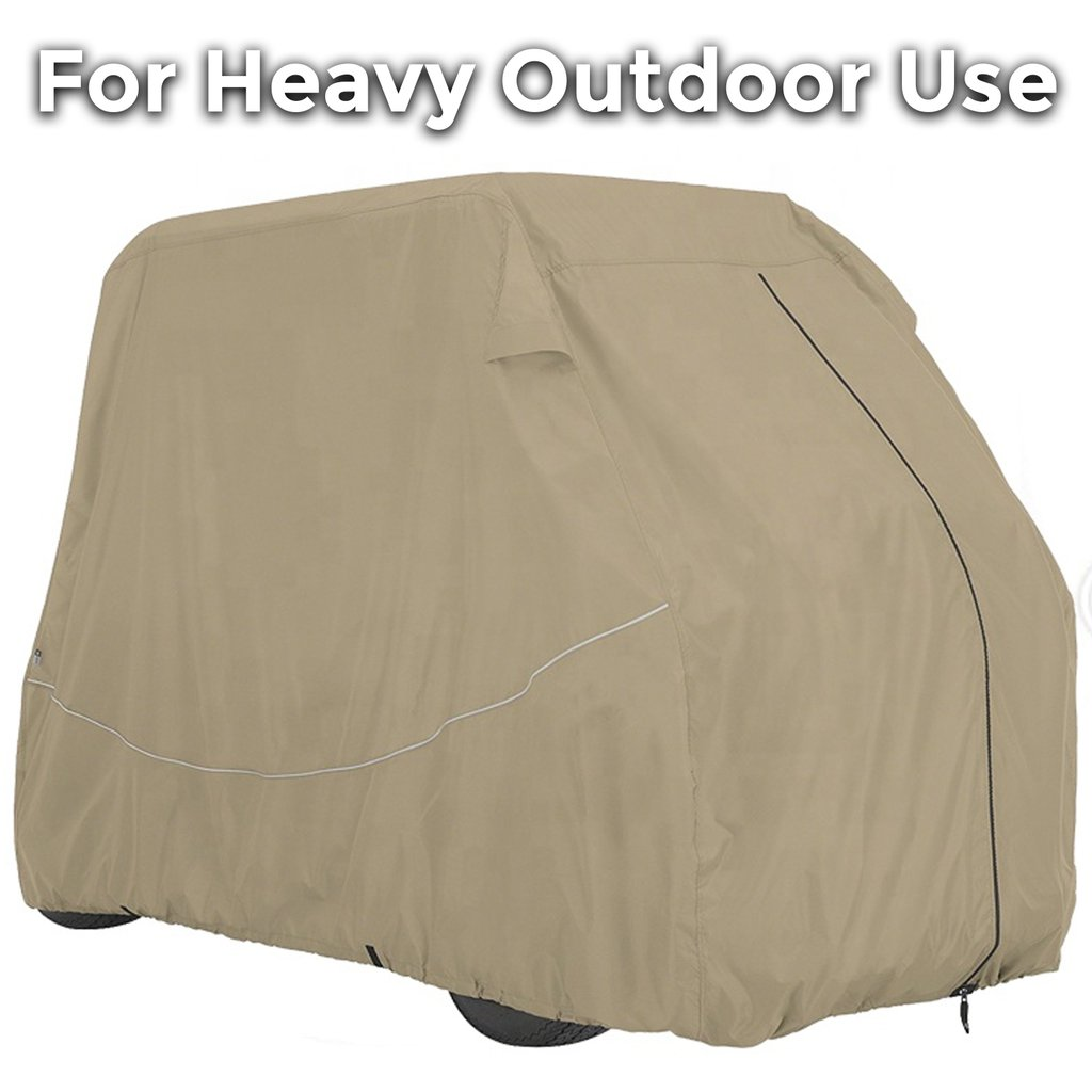 6 Seater Golf Cart Cover Up To 140 Inches Long - Premium Edition